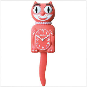 Urban Outfitters Living Coral Lady Kit-Cat Clock